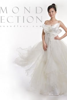 Wedding Dress chiffon and lace diamond collection