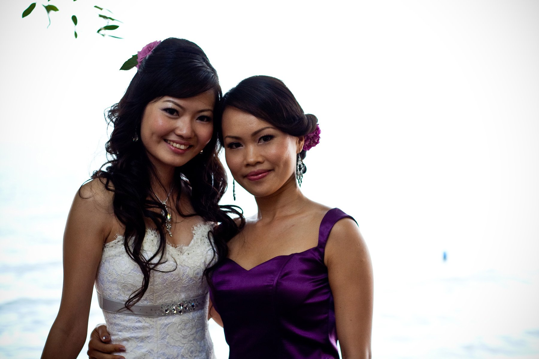 Celeste and Jasmine as her maid of honour