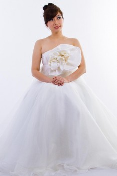 Wedding Dress silk organza ball gown top