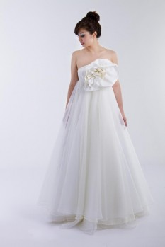 Wedding Dress silk organza ball gown front