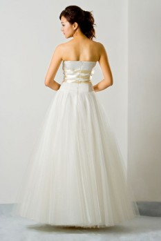 Wedding Dress tulle sweetheart neckline back