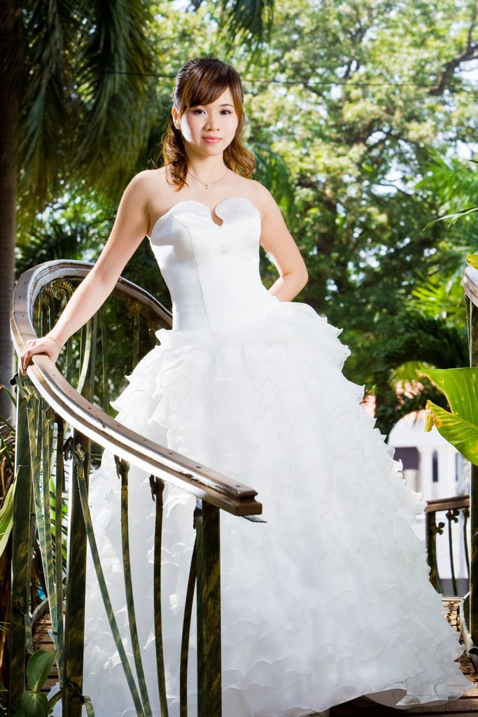 Wedding Dress silk organza ruffle ball gown full