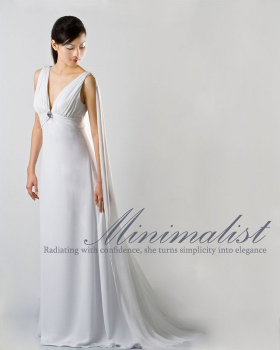 Wedding Dress for minimalist bride