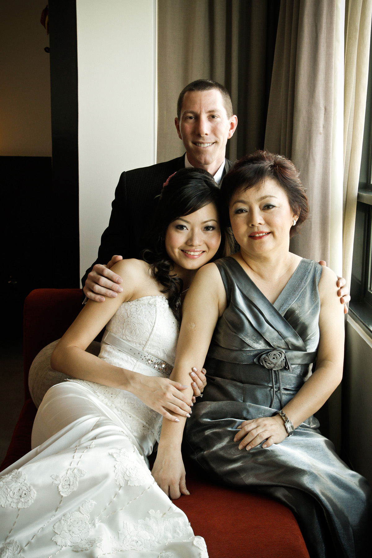 Jeff, Celeste and her mother