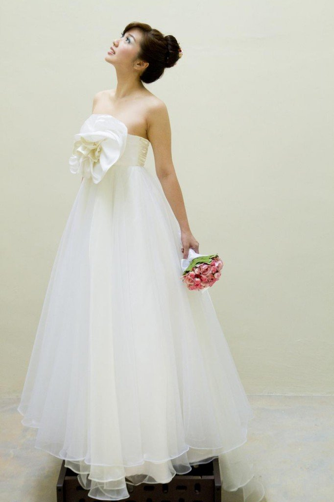 Wedding Dress silk organza ball gown full