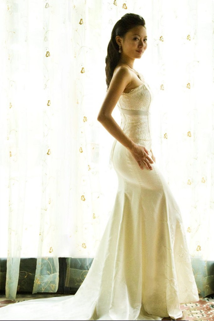 Wedding Dress lace corset silk satin skirt full