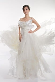Wedding empire waist organza ruffles top