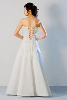 Wedding Dress scallop neckline A line back