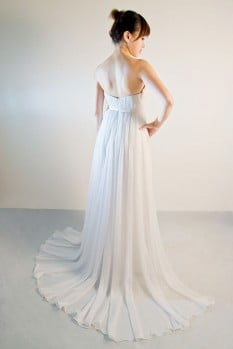 Wedding Dress empire chiffon pleats back