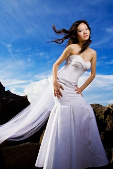 Wedding Dress mermaid chiffon pleats full
