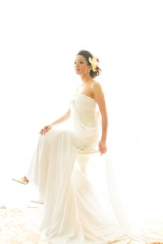 Wedding Dress chiffon figure hugging, Suan